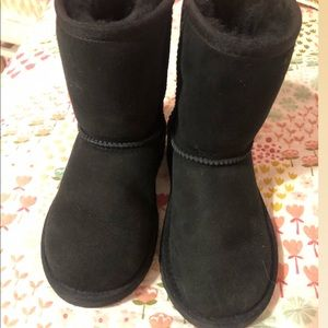 UGG boots black girl size 12